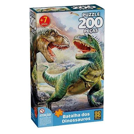 Puzzle Batalha dos Dinossauros Grow 200 peças