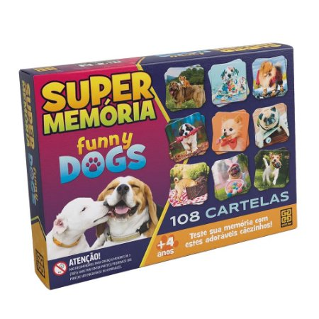 Super Memória Funny Dogs Grow