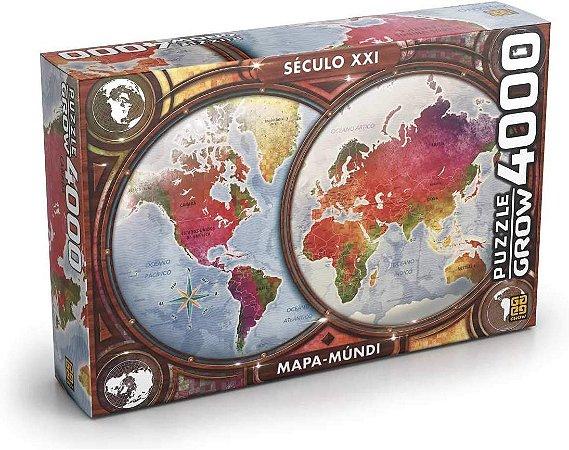 Puzzle Mapa Mundi Grow 4000 peças