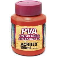 Tinta Pva Acrilex Fosca Vermelho Fogo 100Ml