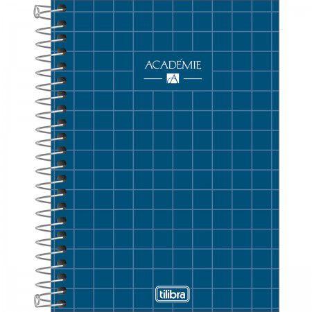 Caderneta Tilibra Acadêmie Azul Escuro 80 folhas