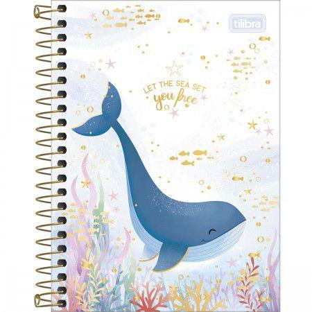 Caderneta Tilibra Bubble Let the sea set you free 80 folhas