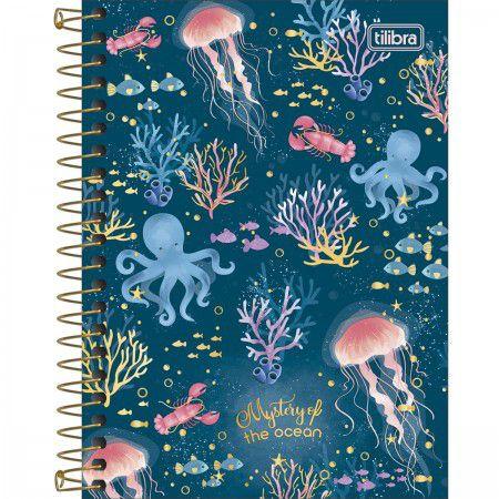 Caderneta Tilibra Bubble Mysteru of the ocean 80 folhas