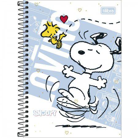 Caderno Tilibra 1/4 Snoopy Loving Espiral 80 folhas
