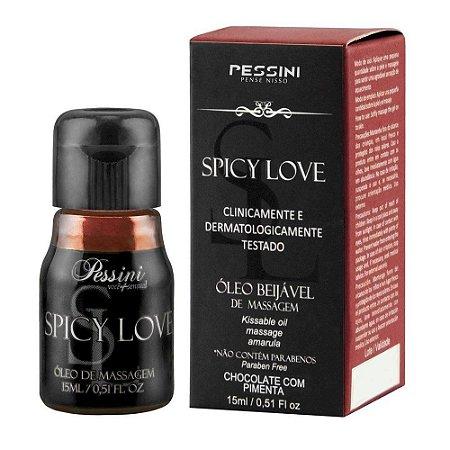 Gel Comestível Spicy Love Hot Chocolate Com Pimenta - Pessini