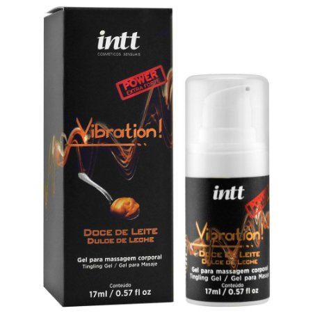 Gel Para Massagem Vibration Doce De Leite 17ml - Intt