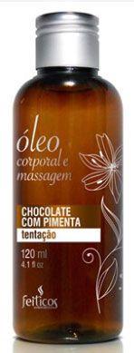 Óleo Aromático Para Massagem - Chocolate Com Pimenta 120ml - Feitiços