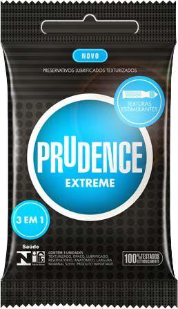 Preservativo Prudence Extreme Com 3 Unidades