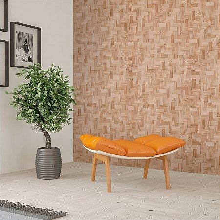 Papel de Parede Vinílico Importado Textura Bambu Bege Claro