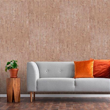 Papel de Parede Vinílico Importado Textura Madeira - Marfim