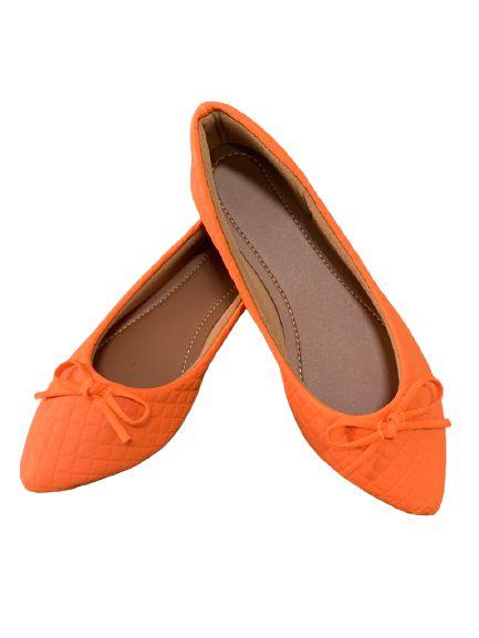 Sapatilha laranja laço