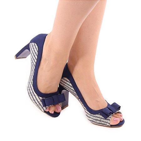 Peep Toe | Azul Marinho