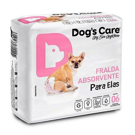FRALDA HIGIÊNICA DOG'S CARE PARA FÊMEAS G - 6 UNIDADES