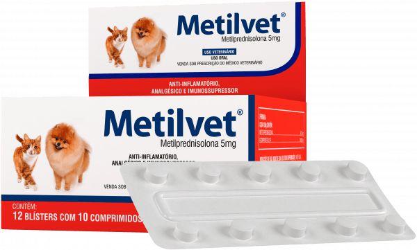 METILVET 5 MG - CARTELA