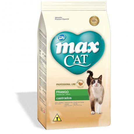 MAX CAT ADULTO LINE CASTRADOS FRANGO 1KG