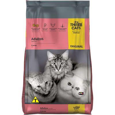 THREE CATS ORIGINAL GATOS ADULTOS CARNE 1KG