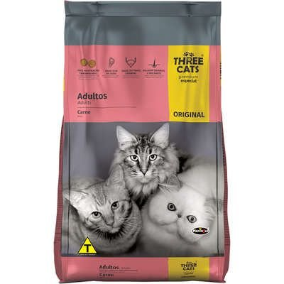 THREE CATS ORIGINAL GATOS ADULTOS CARNE 10,1KG