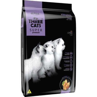 THREE CATS SUPER PREMIUM FILHOTES FRANGO 3KG