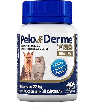 PELO & DERME 750 30 CAPS.