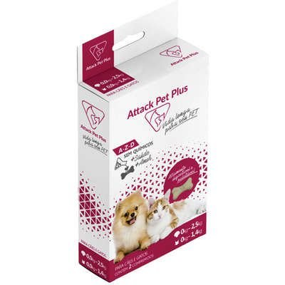 ATTACK PET PLUS PARA CÃES DE 0 A 2,5 KG