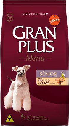 GRAN PLUS MENU FRANGO E ARROZ CÃES SENIOR 3KG