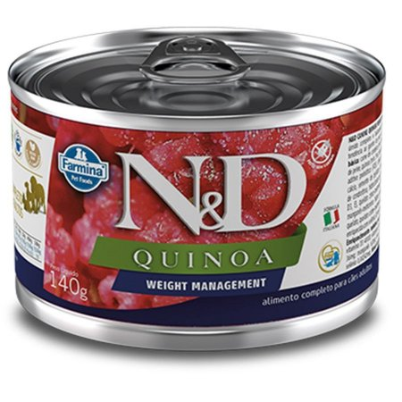 ALIMENTO ÚMIDO N&D CÃES QUINOA WEIGHT MANAGEMENT 140g