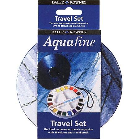 Aquarela Daler Rowney Aquafine 18 Cores Pastilha + Pincel