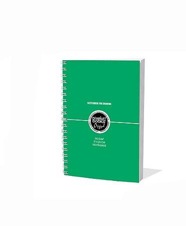 Sketchbook Para Desenho Pixel Art A5 Verde