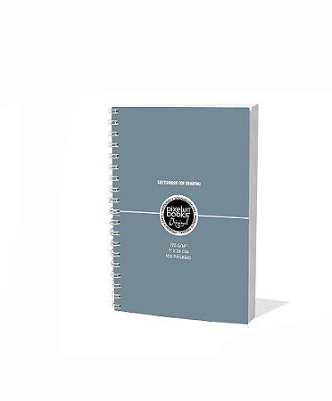 Sketchbook Para Desenho Pixel Art A5 Cinza