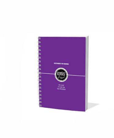 Sketchbook Para Desenho Pixel Art A5 Roxo