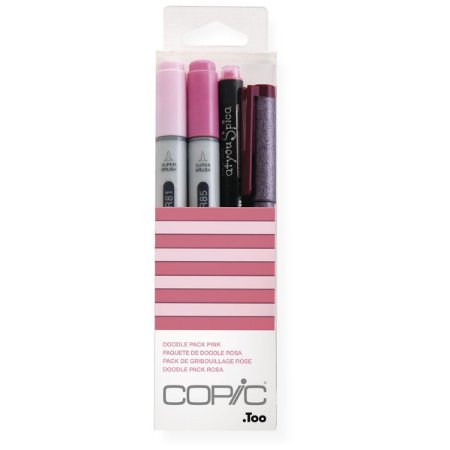 Kit Marcador Copic Ciao Doodle 4 Unidades Pack Pink