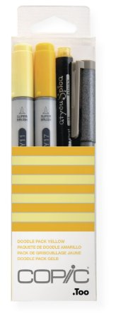 Kit Marcador Copic Ciao Doodle 4 Unidades Pack Yellow