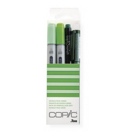 Kit Marcador Copic Ciao Doodle 4 Unidades Pack Green