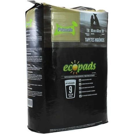 Tapete Higiênico Ecopads - 30 unidades - Petmais