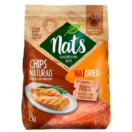 Chips Naturais De Frango com Alecrim Para Cães 25g - Nats