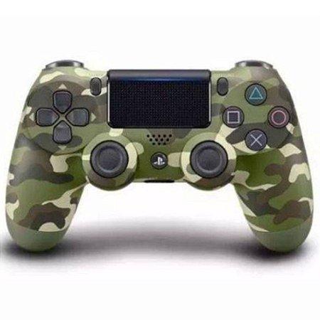 Controle Original Sony Verde Camuflado - Ps4 Usado