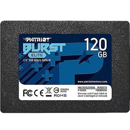 Memória SSD Patriot Burst Elite PE000775 120GB SATA III PBE120GS25SSDR