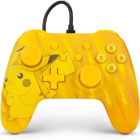 Controle PowerA Com Fio Nintendo Switch Pokémon Amarelo