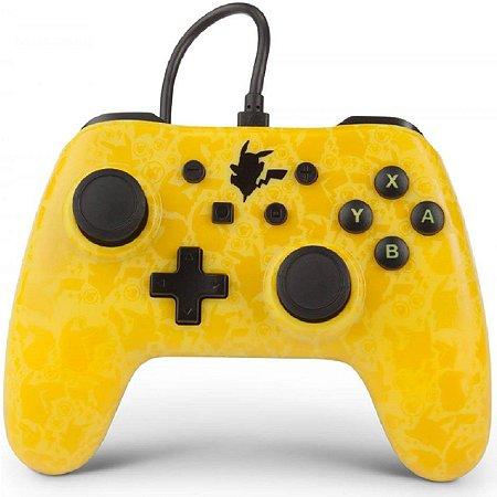 Controle PowerA Com Fio Nintendo Switch Pokémon Amarelo/ Preto