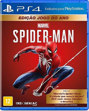Jogo Spider Man Edição Jogo do ano - Ps4 Mídia Física Usado