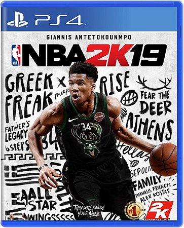 Jogo NBA 2K19 - Ps4 Mídia Física Usado