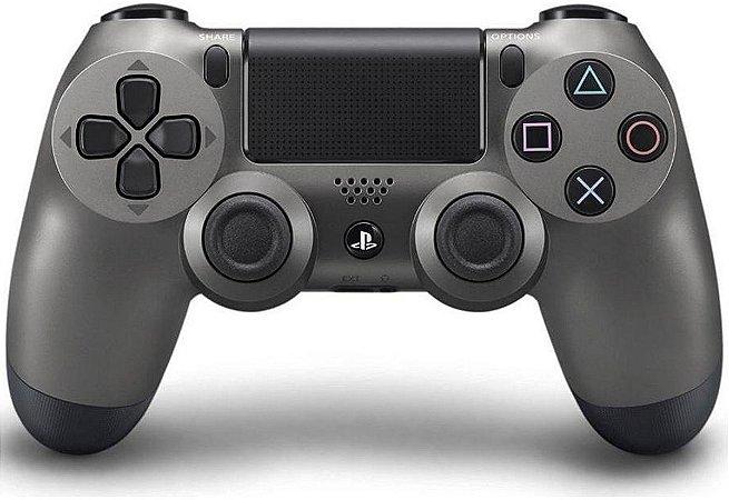 Controle Joystick Sony Dualshock 4 Steel Black Usado