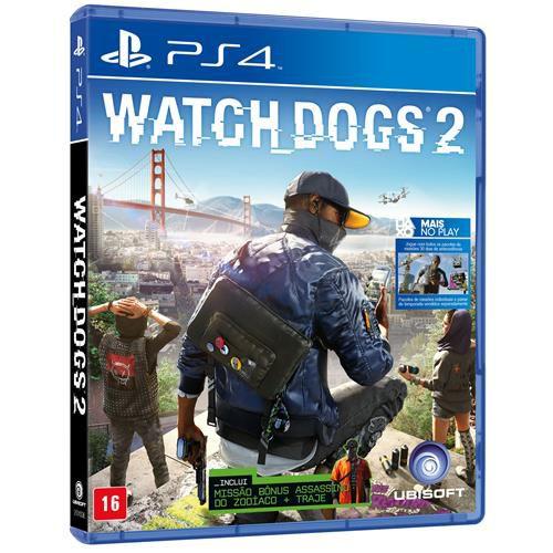 Jogo Watch Dogs 2 - Ps4 Mídia Física Usado