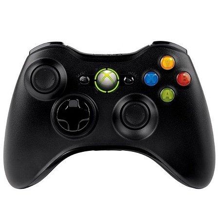 Controle Original Microsoft Preto - Xbox 360 Usado