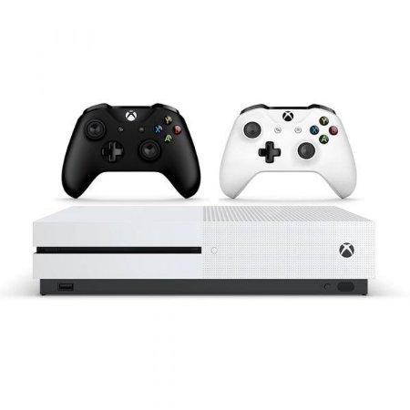 Xbox One S 1TB Branco c/ 2 Controles (Branco e Preto)