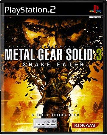 Jogo Metal Gear Solid 3 Snake Eater - PS2 Mídia Física Usado