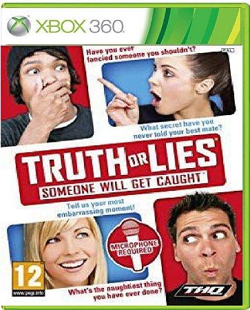 Jogo Truth or Lies - Xbox 360 Mídia Física Usado