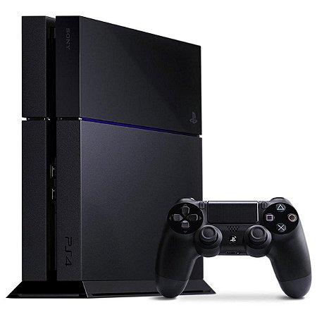 Sony Playstation 4 500GB Standard Jet Black Seminovo