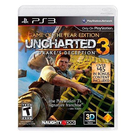 Jogo Uncharted 3 Drake's Deception GOTY - Ps3 Usado