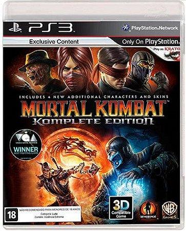 Jogo Mortal Kombat Komplete Edition - Ps3 Mídia Física Usado